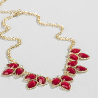 Pershing Statement Necklace in Red