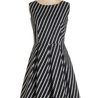 Bea & Dot Long Sleeveless A-line Chalk of the Town Dress in Streamers