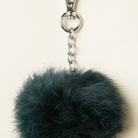 GREEN FUR BALL KEYCHAIN