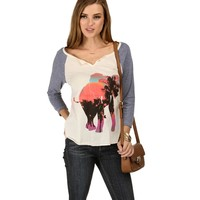 Sale-ivory Elephant In The Sunset Tee