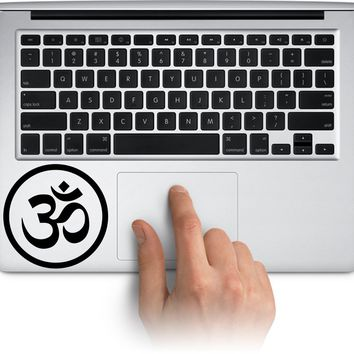 Ohm Symbol Decal Funny Laptop Skin Macbook Trackpad Keypad Sticker Window Water Bottle Cup Car Decals Made in US (Message for Color)