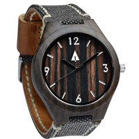 Wooden Watch // Tuscany Vintage Black