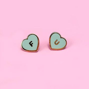 FU Hearts Lapel Pin Set - Mint