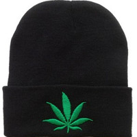 Simple Weed Leaf Beanie