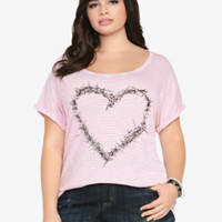 Heart of Thorns Striped Tee
