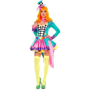 Mad Hatter Hottie Costume Adult Womens Halloween Fancy Dress