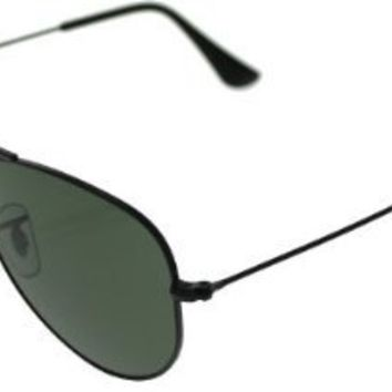Ray Ban Small Aviator Black/Green RB3044 L2848 52/00 3N Sunglasses 52mm