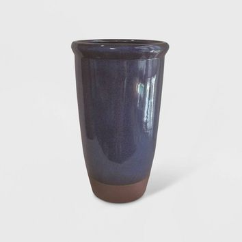 Dual Reactive Glaze Planter Blue - Threshold™