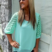 Chevron Accent Blouse