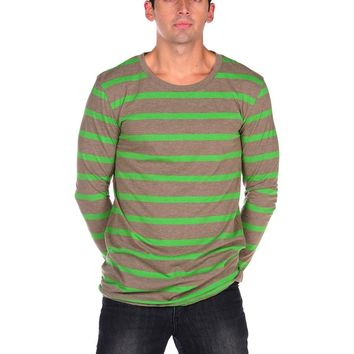 Cheap Monday Tarn Stripe Tee - Clay/Powder Green