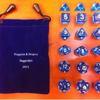 Dragon and Dungeon dice Board game runs open missions Personality transparent dice Educational playing entertainment