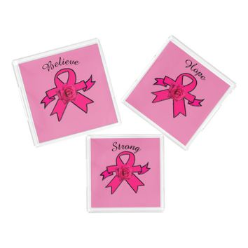 Rose Pink Ribbon Strong Acrylic Tray