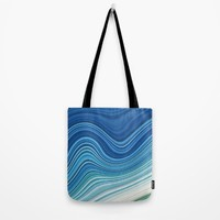 WAVES Tote Bag by LEMAT WORKS
