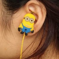 Despicable Me 2 Minions Jorge Stewart Dave earphone in ear headphone 3.5mm new