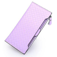Lixmee Women'S Cash In Hand Diamond Lattice Hand Held Wallet