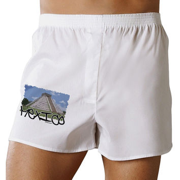 Mexico - Mayan Temple Cut-out Boxer Shorts