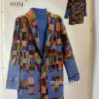 Country Patches 0354 Jacket Coat Sewing Pattern Womens XS S M L XL New Uncut FF