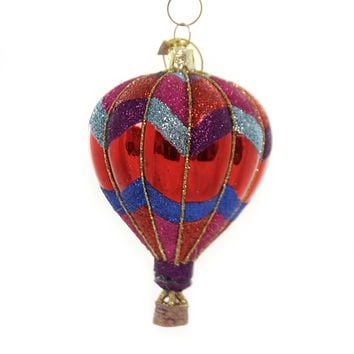 Noble Gems HOT AIR BALLOON Glass Summer Fun Nb1285 Red