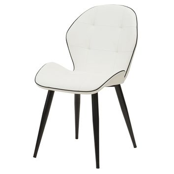 Astrid PU Leather Chair (Set of 2) White