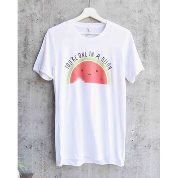 distracted - you're one in a melon unisex graphic tee - white