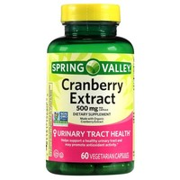 Spring Valley Cranberry Extract, 60 count, 500 mg per Capsule - Walmart.com
