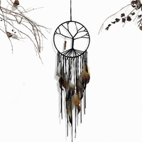 Handmade Big Tree of Life Dreamcatcher Wind Chimes Indian Style Campanula Feather Pendant Dream Catcher Gift 20*60cm