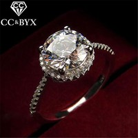 CC Jewelry Fashion Jewelry Rings For Women Luxury Round Engagement Ring Charm Bride Wedding Gift Jewelry CC583