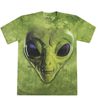 GREEN ALIEN FACES TEE
