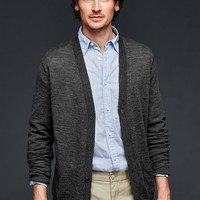 Gap Men Merino Slub Cardigan