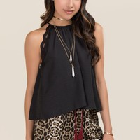 Isha High Neck Lace Trim Tank