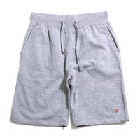 Rose Patch Sweatshorts Heather Grey