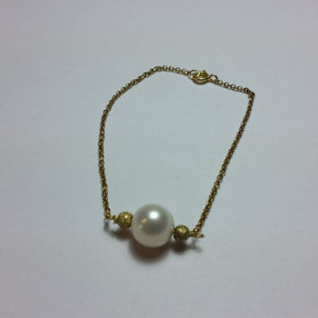 Minimalist Pearl  Bracelet- freshwater pearls Silver 925 Gold filled 18kt