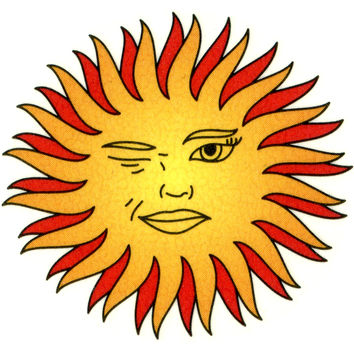Sun Temporary Tattoo 2x2