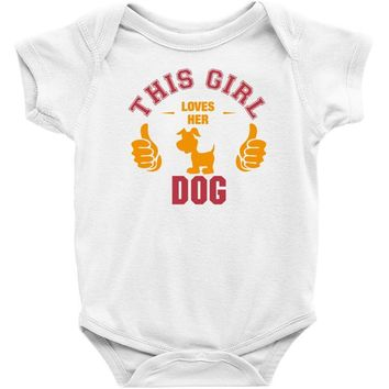 This Girl Loves Her Dog Baby Onesuit