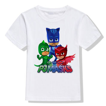 PJ Masks children T-shirt cartoon boys girls clothes kids Les Pyjamasques summer clothing PJMasks