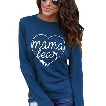 Mama Bear Sweatshirt in Blue