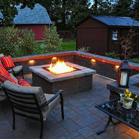 "Do-It-Yourself Ready-to-Finish 36"" Square Fire Pit Kit"