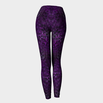 Liquid Purple, Compression fit performance Leggings, XS,S,M,L,XL, Hand Made Activewear, Purple, Yoga pants