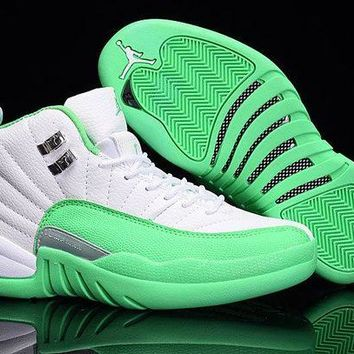"""Cherry"" Air Jordan 12 Gym Green/white"