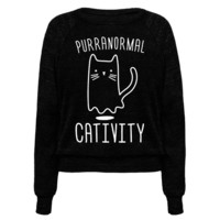 PURRANORMAL CATIVITY (WHITE) PULLOVERS