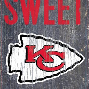 Kansas City Chiefs Home Sweet Home Premium Wood Sign