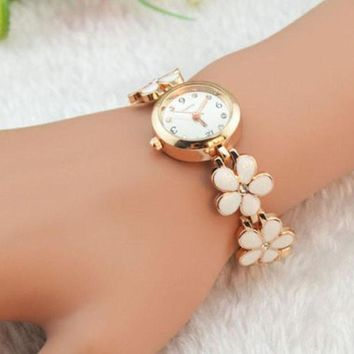 Rose Gold Bracelet Wrist Watch