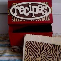Recipe Box - Animal Print on Luulla