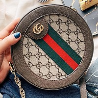 GUCCI Fashion new more letter leather shopping leisure shoulder bag crossbody bag