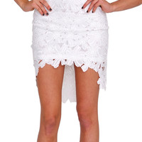 Legally Beautiful Lace Skirt - White