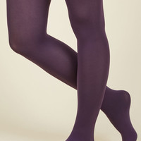 Accent Your Ensemble Tights in Grape