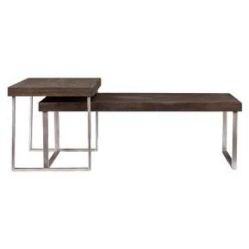 Mixed Material Nesting Coffee Table - Southern Enterprises : Target