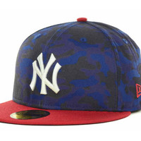 New York Yankees MLB In Living Camo Fitted 59FIFTY Cap