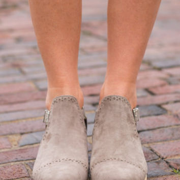 Ahead Of The Game Booties, Taupe