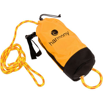 Harmony 70 Foot Rescue Throw Bag Yellow, One